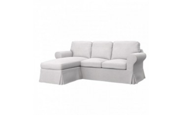 IKEA EKTORP 2-seat sofa with chaise longue cover