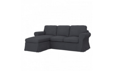 IKEA EKTORP 2-seat sofa with chaise longue cover