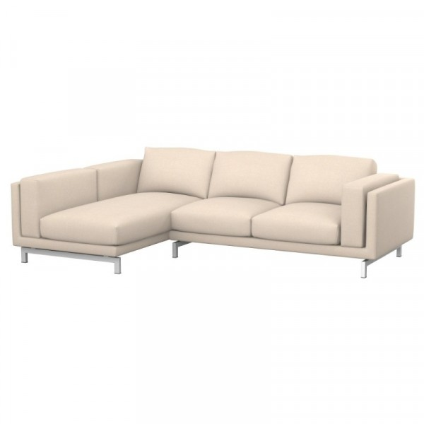 IKEA NOCKEBY 2-seat sofa cover with left chaise longue - Soferia ...