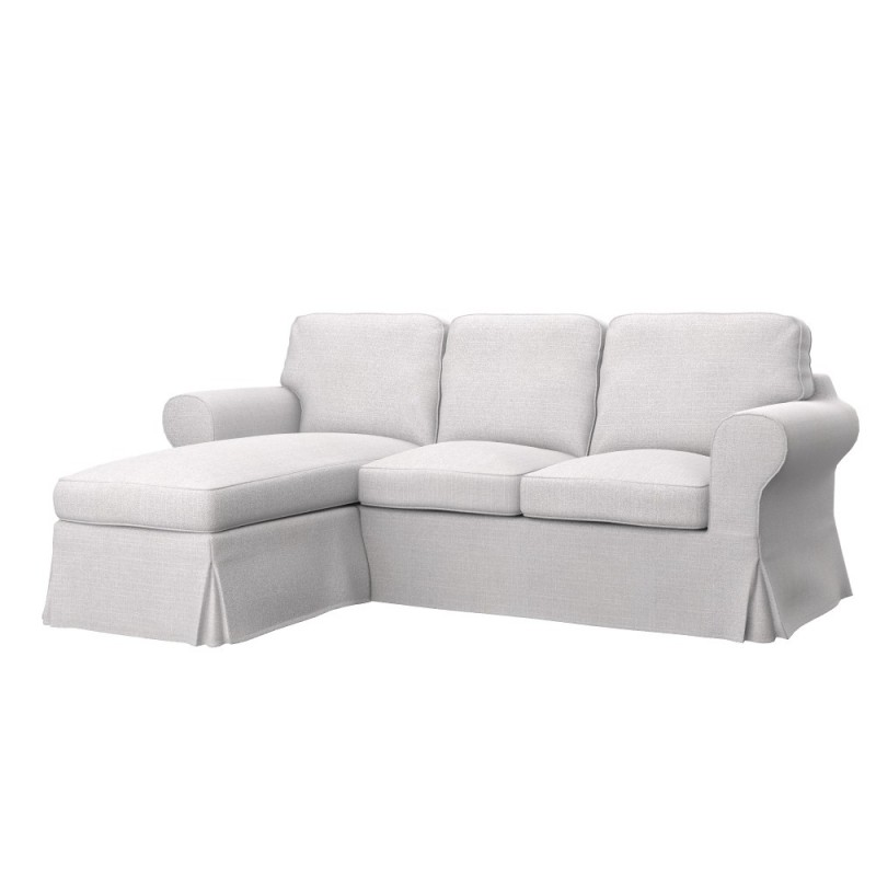 Ikea ektorp 2 seat sofa with chaise longue cover soferia - Chaise longue jardin ikea ...