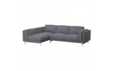 NOCKEBY 2-seat sofa cover with right chaise longue